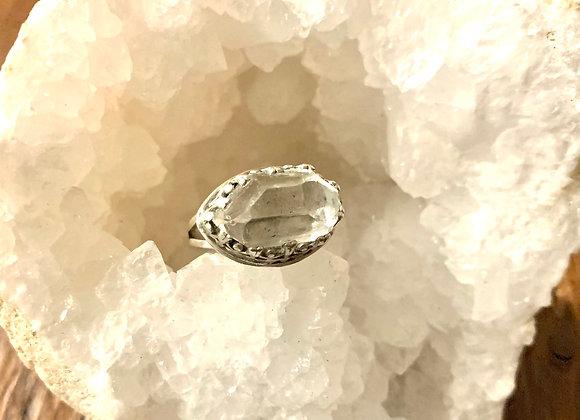 Large Herkimer Diamond Ring