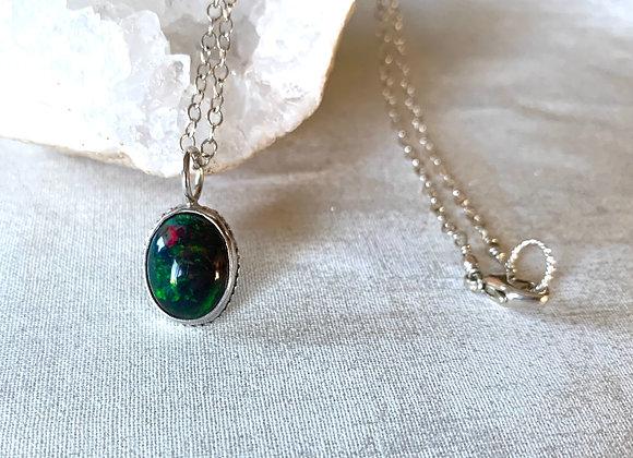 Welo Black Opal Necklace