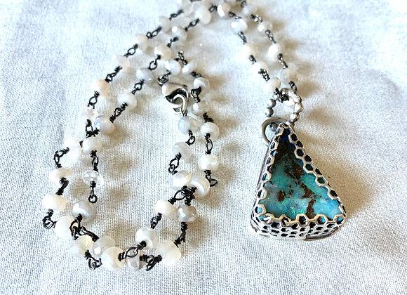 Australian Boulder Opal & Mystic Moonstone Necklace