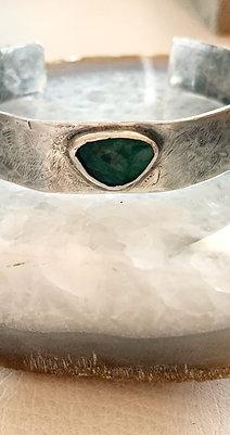 Emerald Hammered Cuff