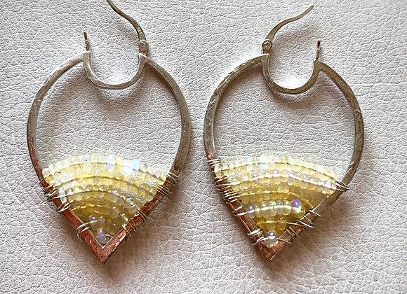 Wel0 Opal Lotus Hoops