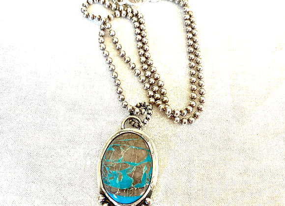 Native American Style Royston Turquoise Necklace