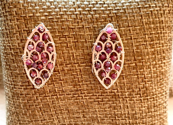 Pink Silverite Earrings