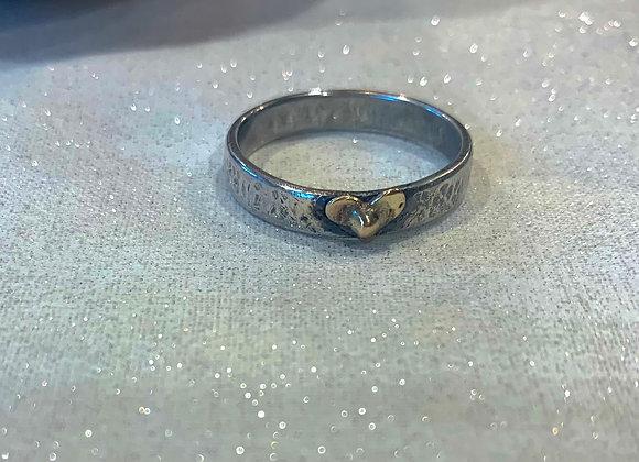 Mixed Metal Heart Ring
