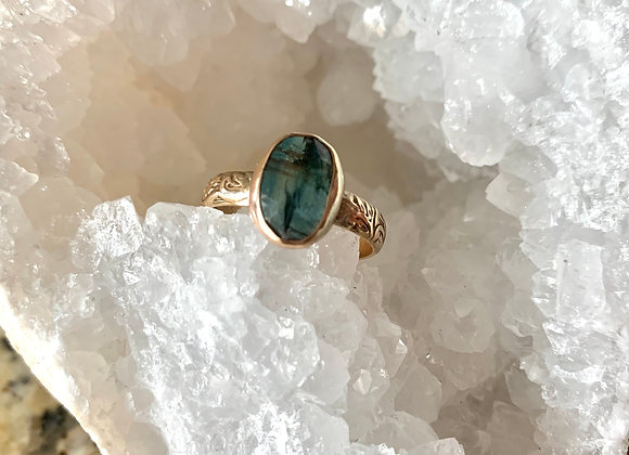 Gold Kyanite Gemstone Ring