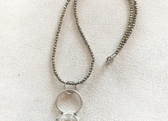 Herkimer Diamond & Pyrite Necklace