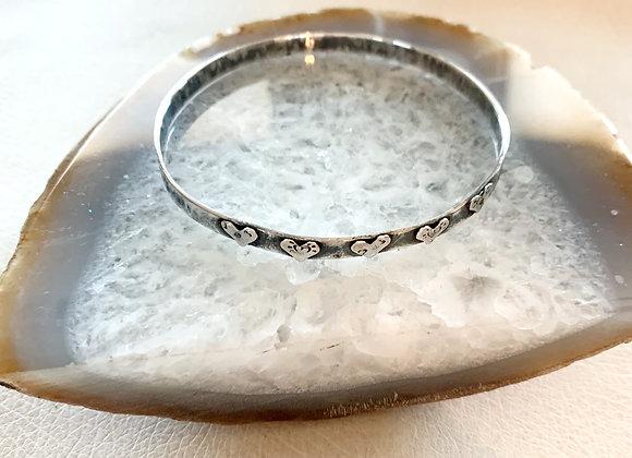 Five Heart Bangle Bracelet