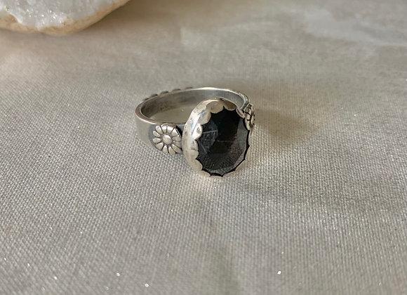 Black Sunstone Gemstone Ring