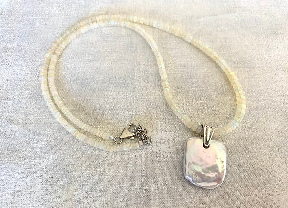 Welo Opal & Coin Pearl Necklace