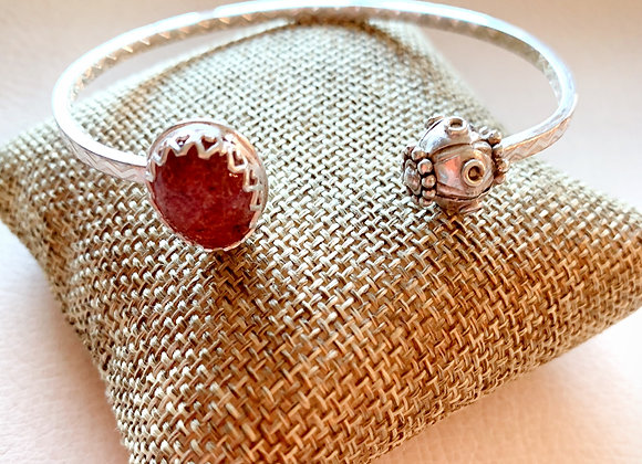 Strawberry Quartz front Cuff