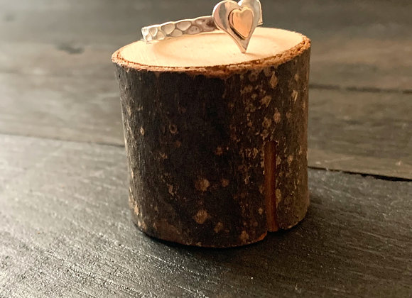 Gold & Silver Heart Ring
