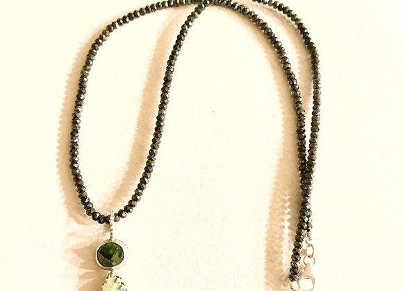 Blue Tourmaline, Australian Boulder Opal & Mystic Spinel Necklace