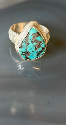 Sleeping Beauty Turquoise Nugget Ring