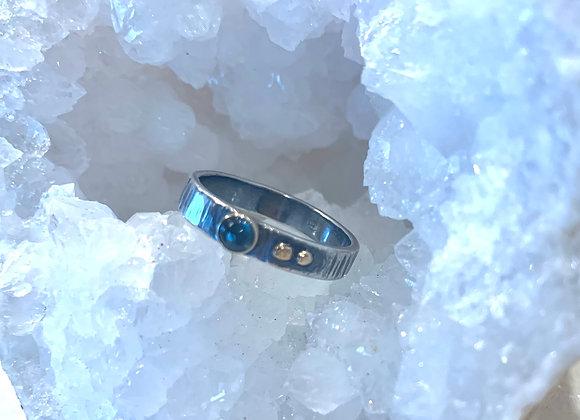 Kyanite mixed metal Gemstone Ring