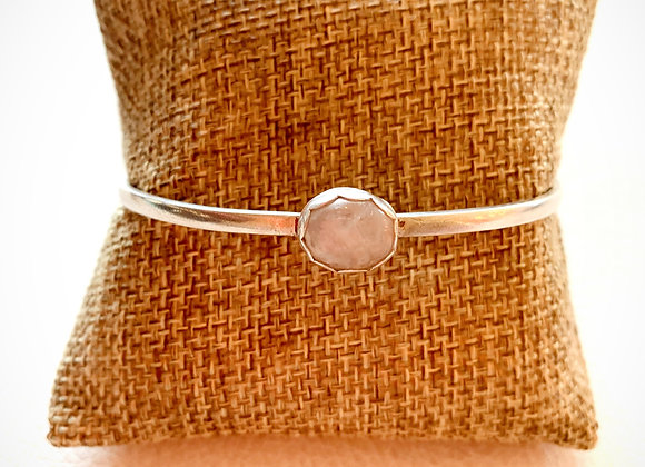 Rainbow Moonstone Bangle Bracelet