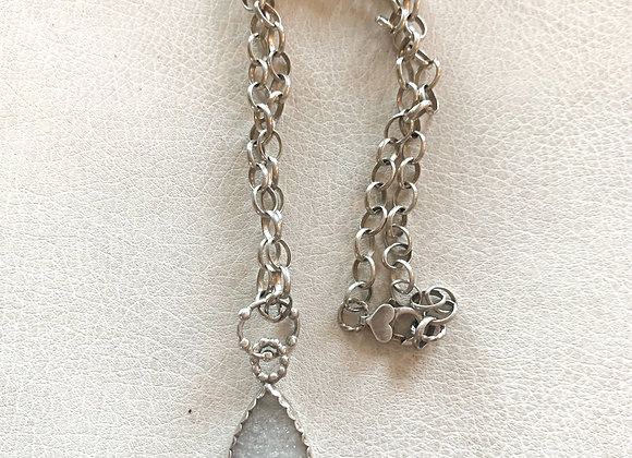 Druzy Quartz and Welo Opal Necklace