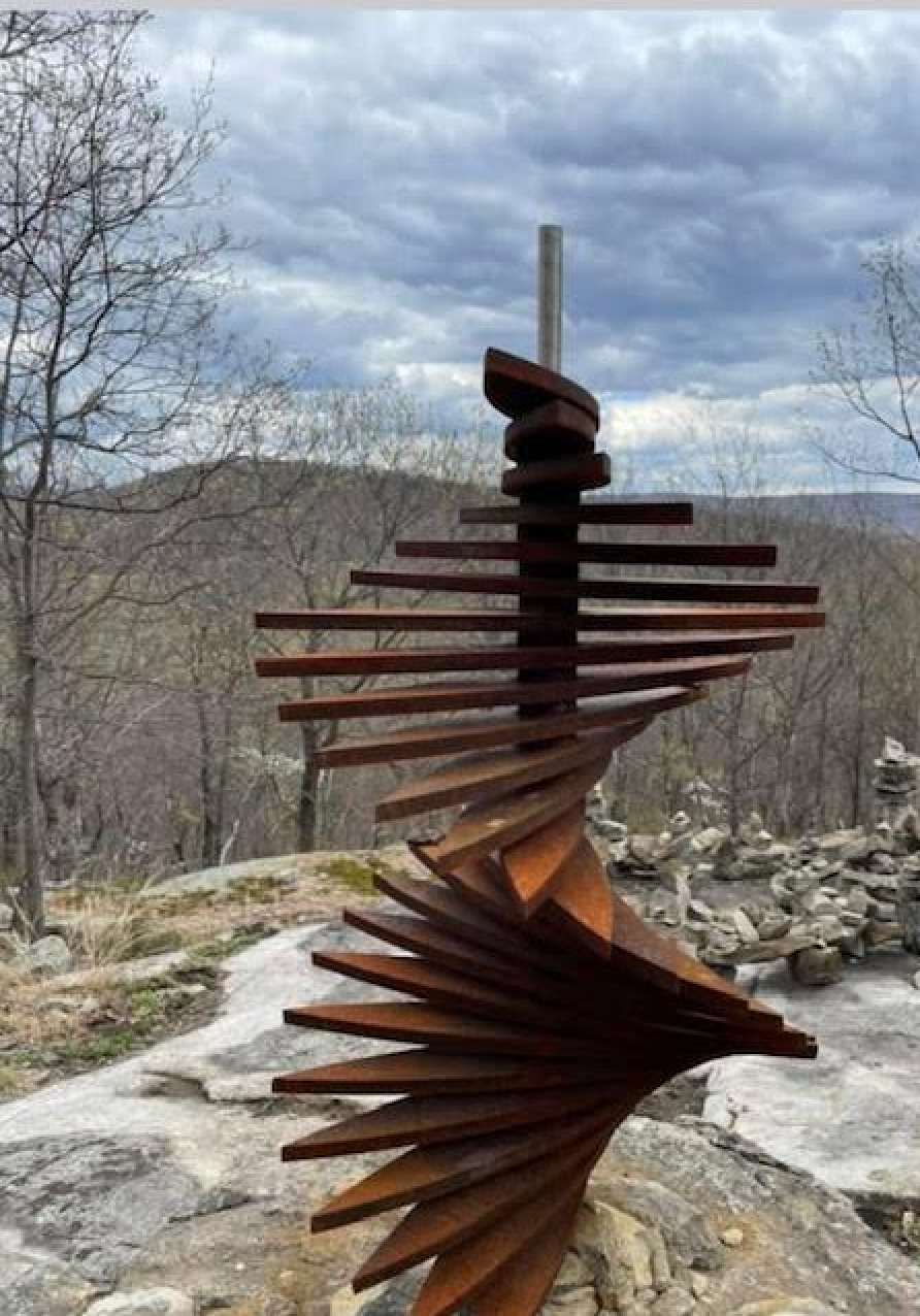 Sculpture on the trail in Ringwood, New Jersey