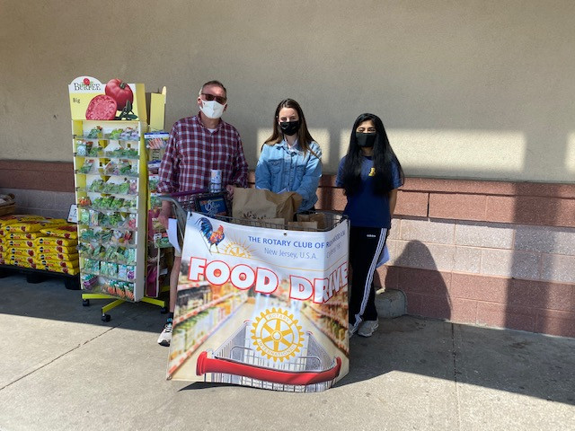 The Rotary Club of Ridgewood AM food collection drive