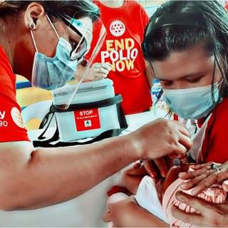 Rotary International works on eradicating polio