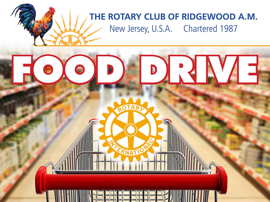 Ridgewood AM Rotary Food Drive