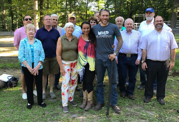 Members of Unbridled Heroes and the Ridgewood AM Rotary