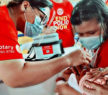 Rotary remains committed to fighting polio and responding to COVID-19