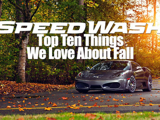 SpeedWash Top Ten Things We Love About Fall