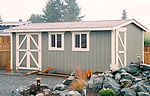 12 x 20 Shed Style.double doors.extra do