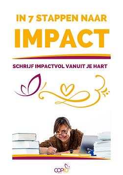 SCHRIJFGIDS - In 7 stappen naar impact -