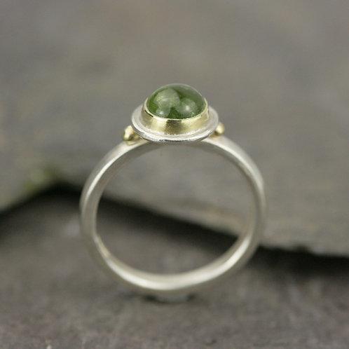 Light Green Tourmaline Ring