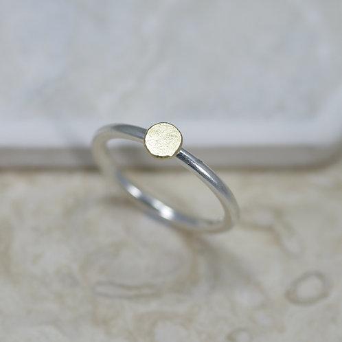 Sun ring (plain silver & gold)