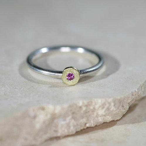 Precious Pink stacker ring