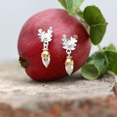 Acorn and Oakleaf earrings