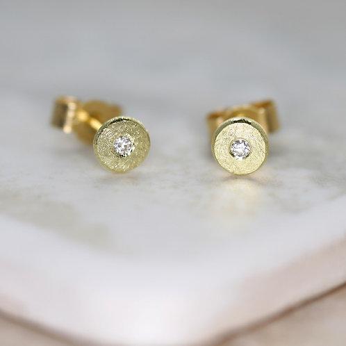 Sun & White Star earrings