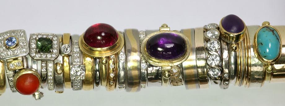 stack of precious rings