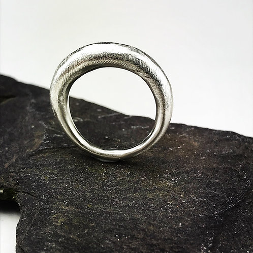 Silver sand cast ring