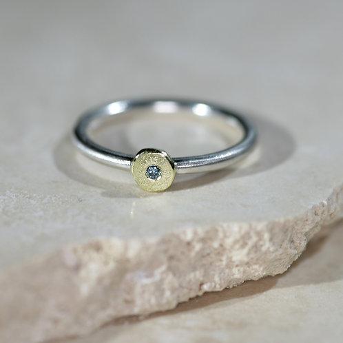 Precious Blue Diamond stacker ring