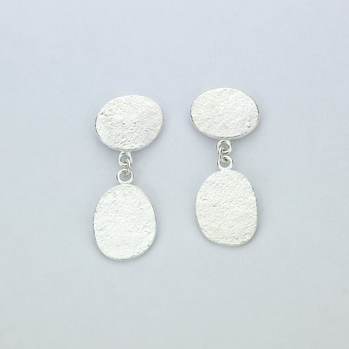 Abstract textured oval drops