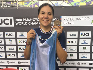 MARIELA DELGADO VOLVIÓ DE BRASIL CON DOS BRONCES