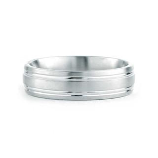 double-fedi nuziali personalizzateline-6-mm-brushed-and-polished-ba
