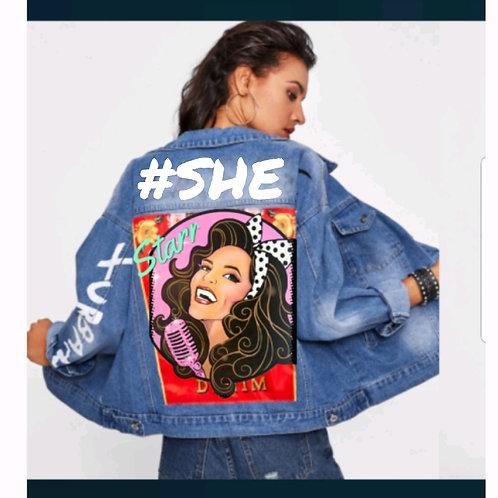 Custom #SHE  Denim Jacket
