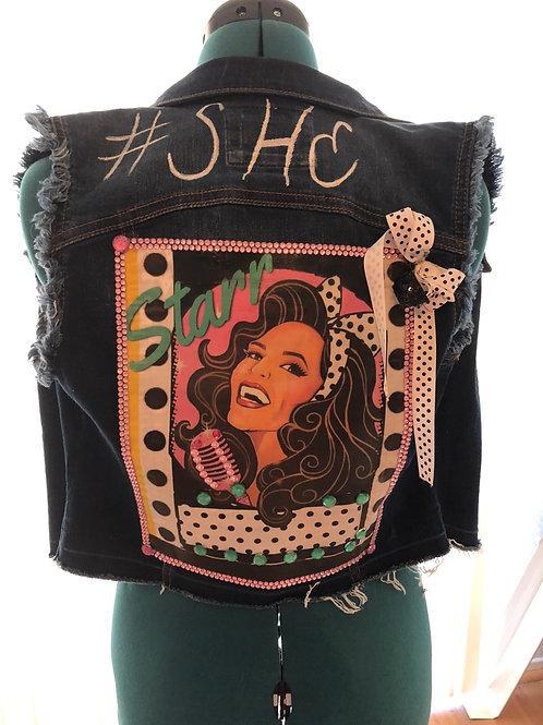 #She Custom Denim Vest ( bow)