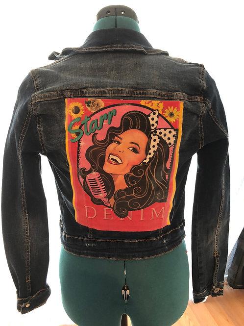 #She Custom (Sunflower) Denim Jacket