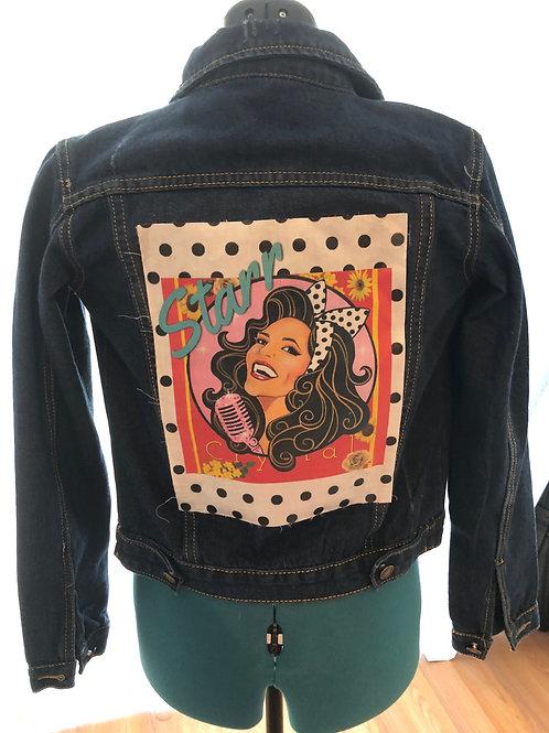 #She Custom Denim Jacket ( princess)