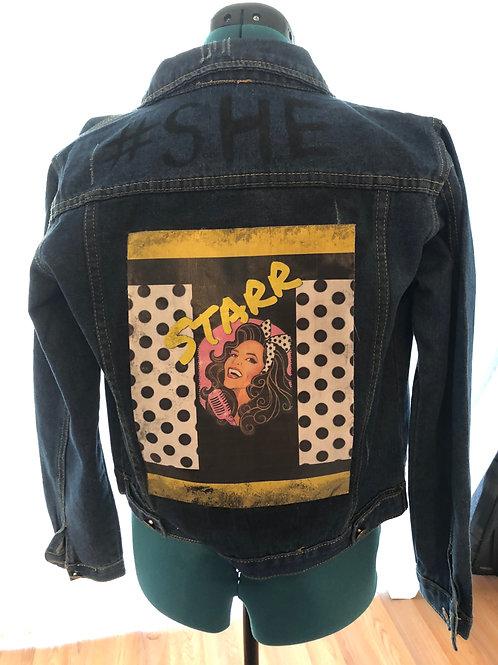 #She Custom Jacket ( Polka dots)