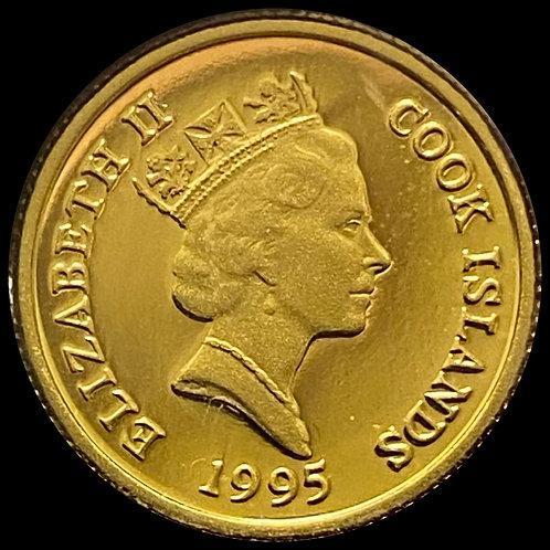 1/25 oz Gold $20 Cook Islands 1995