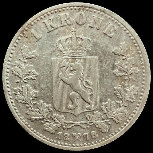 1 Kr 1878 kv.1  SOLGT