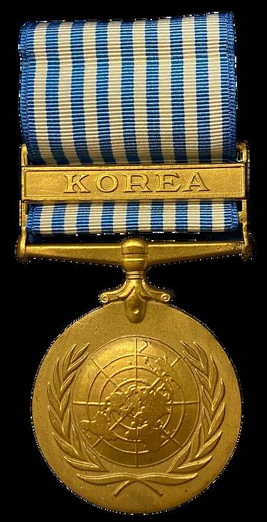 FN´s Korea medalje m/båndstripe og original eske