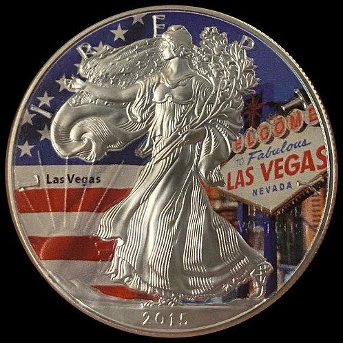 "1 oz Silver Eagle ""Las Vegas"" USA 2015"