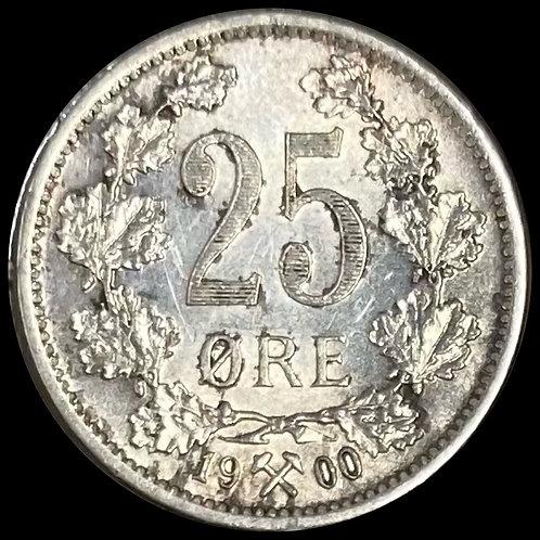 25 Øre 1900 Kv.0/01  SOLGT